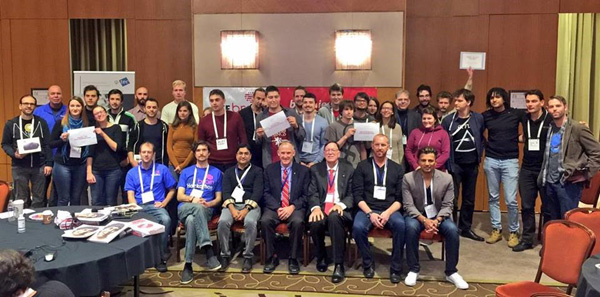 Winners, organizers and supporters of Brain & Vision Hackathon at SMC 2016