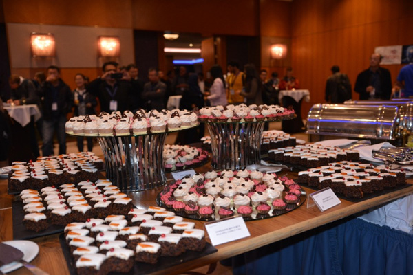 Cake specialties at the Welcome reception